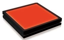 TH2-160X120RD - Flat Light (Back Light) Red, 24V