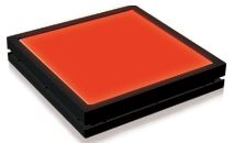 TH2-224X170RD - Flat Light (Back Light) Red, 24V