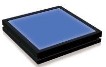 TH2-27X27BL - Flat Light (Back Light) Blue, 24V