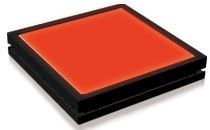 TH2-27X27RD - Flat Light (Back Light) Red, 24V