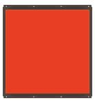 TH2-300X300RD - Flat Light (Back Light) Red, 24V