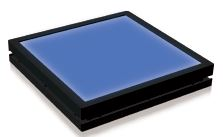 TH2-43X35BL - Flat Light (Back Light) Blue, 24V