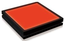 TH2-51X51RD - Flat Light (Back Light) Red, 24V