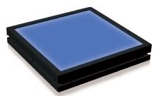 TH2-63X60BL - Flat Light (Back Light) Blue, 24V