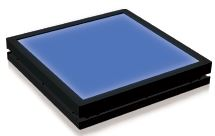 TH2-83X75BL - Flat Light (Back Light) Blue, 24V