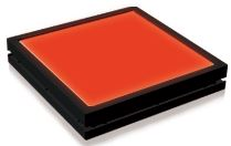 TH2-83x75RD - Flat Light (Back Light), Red, 24VDC